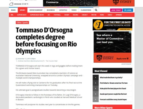 Tommaso D'Orsogna completes degree before focusing on Rio Olympics