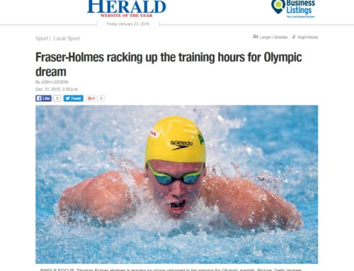 Fraser-Holmes racking up the training hours for Olympic dream